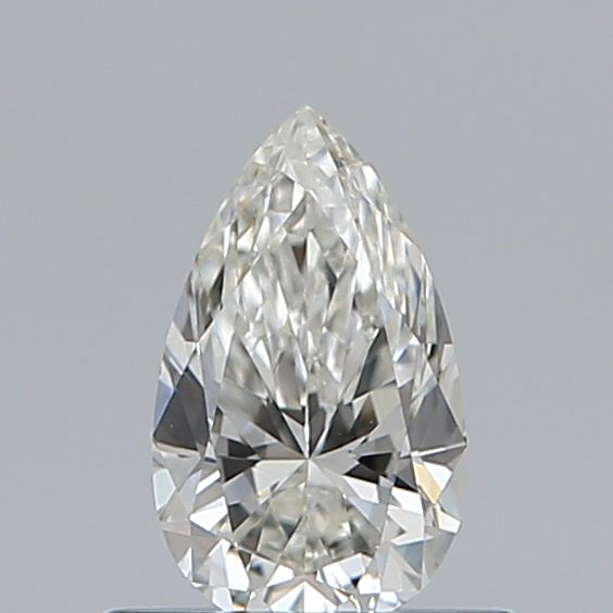 0.46 Carat Pear Loose Diamond, H, VVS2, Ideal, GIA Certified