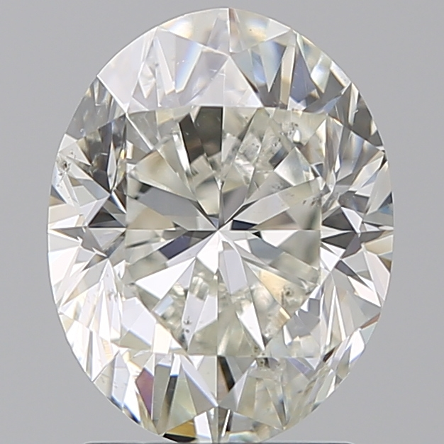 2.00 Carat Oval Loose Diamond, J, SI1, Excellent, GIA Certified