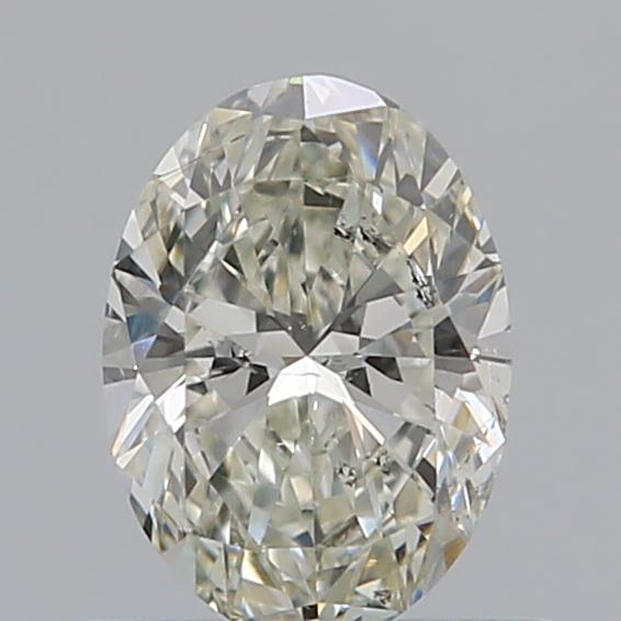0.50 Carat Oval Loose Diamond, K, SI2, Super Ideal, GIA Certified