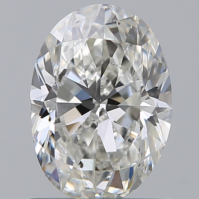 0.90 Carat Oval Loose Diamond, H, SI1, Excellent, GIA Certified