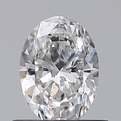 0.50 Carat Oval Loose Diamond, D, SI1, Ideal, GIA Certified