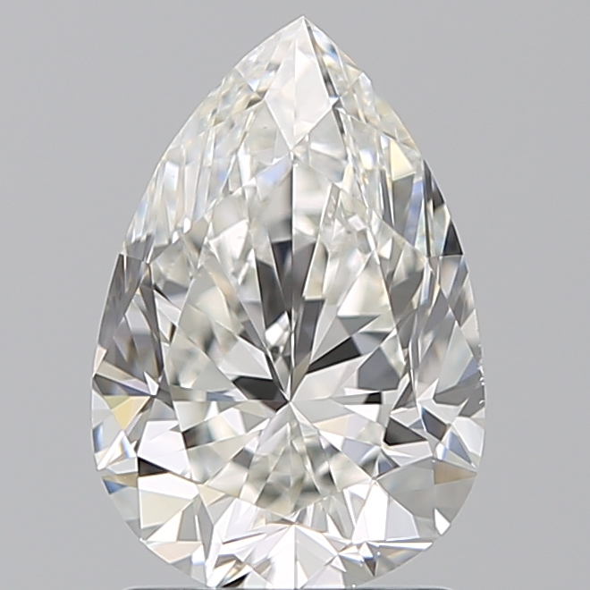 1.50 Carat Pear Loose Diamond, H, VS1, Excellent, GIA Certified