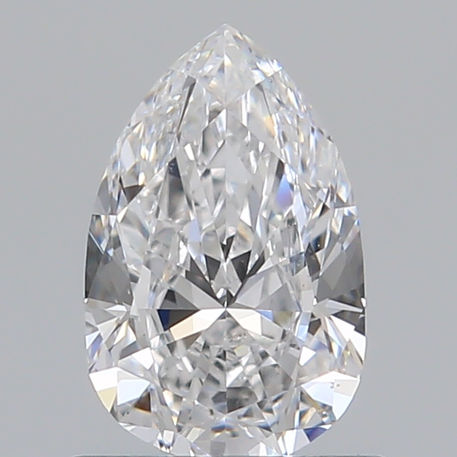 0.70 Carat Pear Loose Diamond, D, VS2, Excellent, GIA Certified
