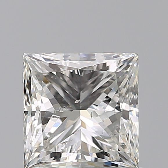0.90 Carat Princess Loose Diamond, I, SI2, Ideal, GIA Certified