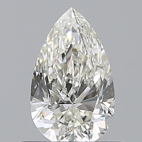 0.50 Carat Pear Loose Diamond, J, SI1, Ideal, GIA Certified