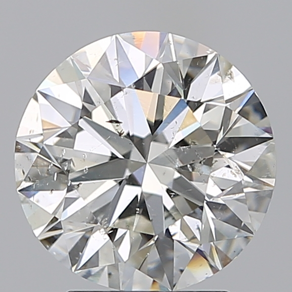2.50 Carat Round Loose Diamond, I, SI2, Super Ideal, GIA Certified