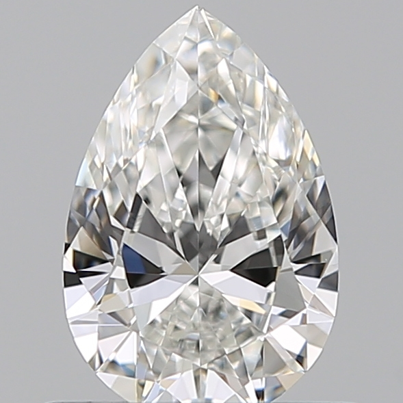 0.50 Carat Pear Loose Diamond, G, VS1, Ideal, GIA Certified
