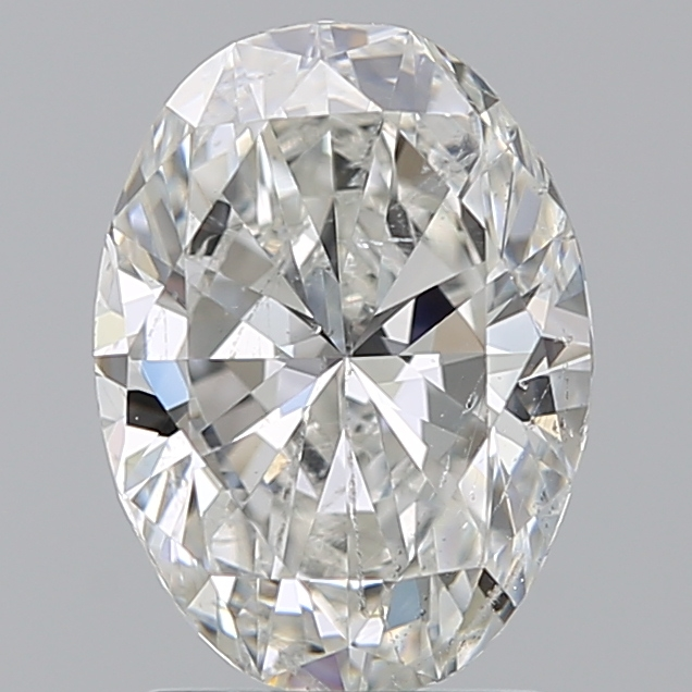 1.70 Carat Oval Loose Diamond, G, SI2, Super Ideal, GIA Certified