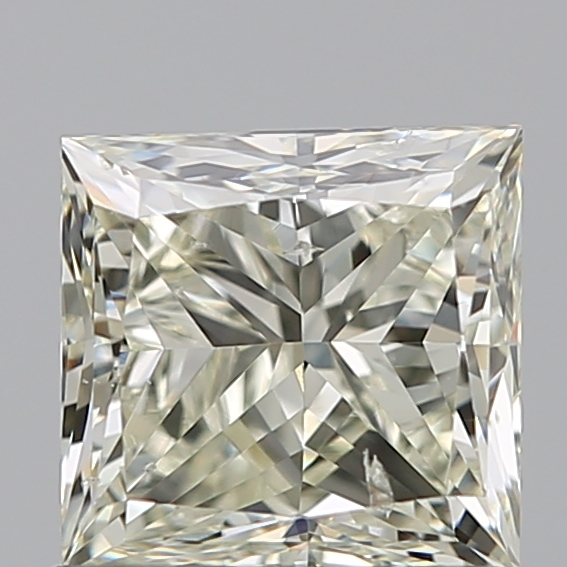 0.90 Carat Princess Loose Diamond, N, SI2, Excellent, GIA Certified