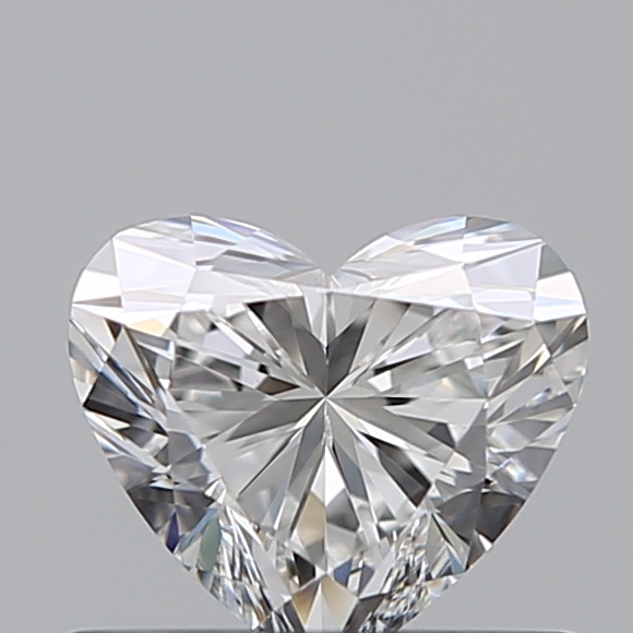 0.46 Carat Heart Loose Diamond, E, VVS2, Super Ideal, GIA Certified