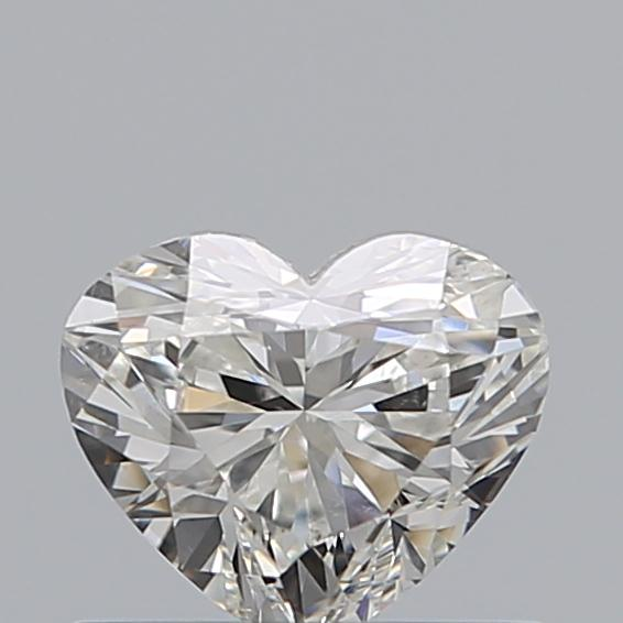0.50 Carat Heart Loose Diamond, H, SI1, Super Ideal, GIA Certified | Thumbnail