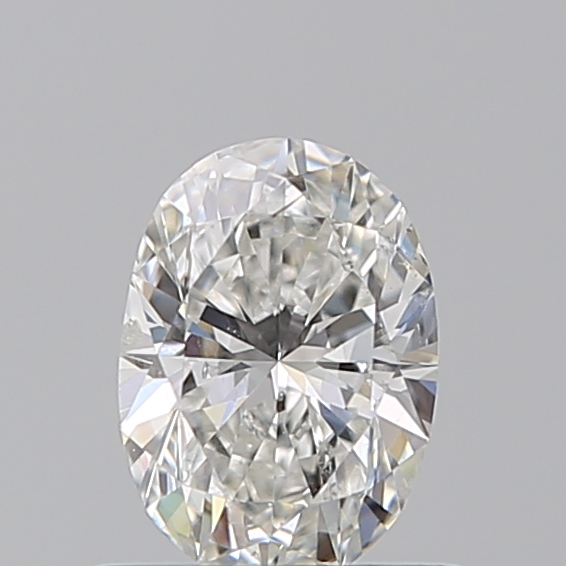 0.55 Carat Oval Loose Diamond, G, SI2, Super Ideal, GIA Certified