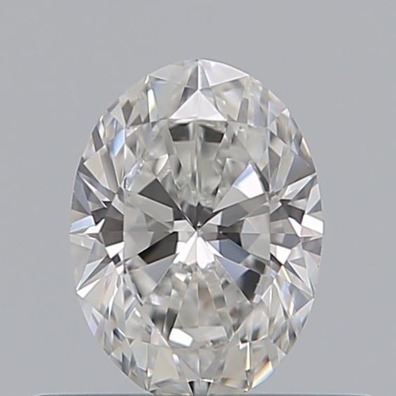 0.40 Carat Oval Loose Diamond, F, VVS2, Super Ideal, GIA Certified