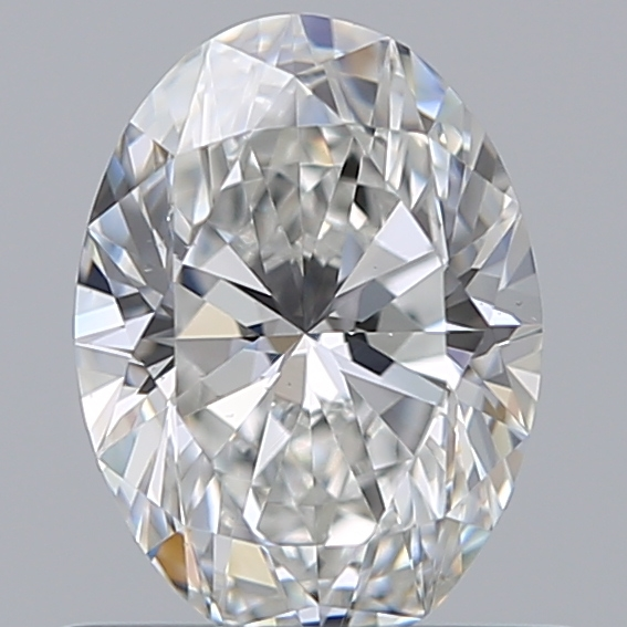 0.59 Carat Oval Loose Diamond, F, VS1, Super Ideal, GIA Certified | Thumbnail