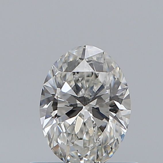 0.50 Carat Oval Loose Diamond, H, SI1, Super Ideal, GIA Certified