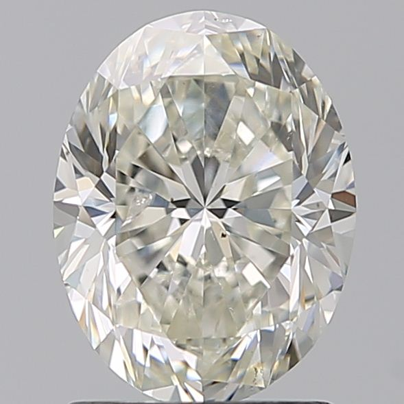 1.50 Carat Oval Loose Diamond, J, SI2, Excellent, GIA Certified