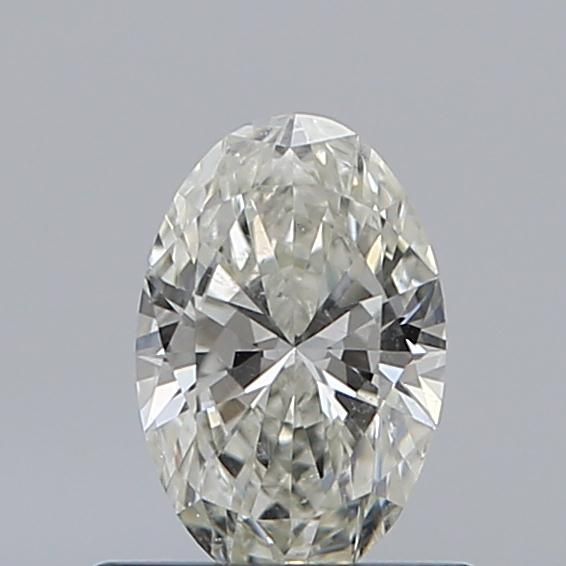 0.50 Carat Oval Loose Diamond, J, SI1, Super Ideal, GIA Certified