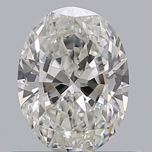 0.50 Carat Oval Loose Diamond, H, SI2, Excellent, GIA Certified