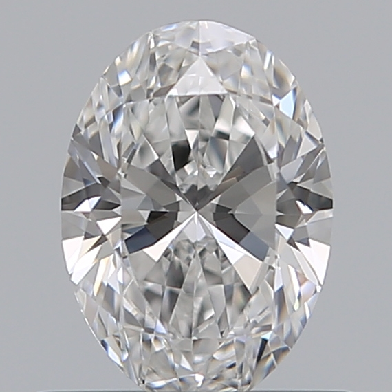 0.53 Carat Oval Loose Diamond, D, IF, Super Ideal, GIA Certified
