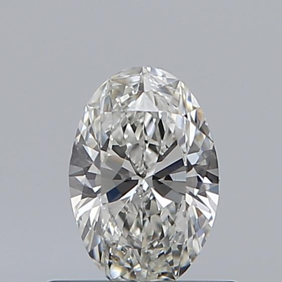 0.46 Carat Oval Loose Diamond, H, VS1, Excellent, GIA Certified