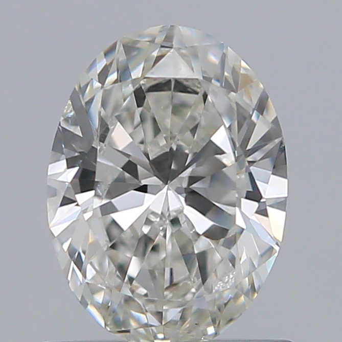 0.70 Carat Oval Loose Diamond, H, SI2, Ideal, GIA Certified