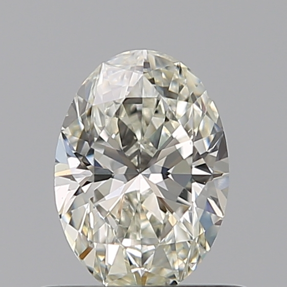 0.50 Carat Oval Loose Diamond, J, VS2, Ideal, GIA Certified