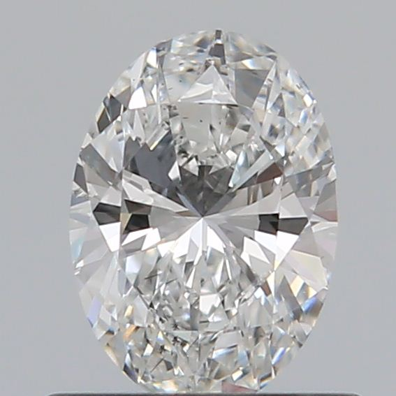 0.50 Carat Oval Loose Diamond, F, SI2, Ideal, GIA Certified | Thumbnail