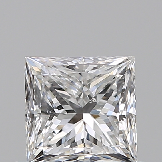 0.50 Carat Princess Loose Diamond, E, SI1, Excellent, GIA Certified