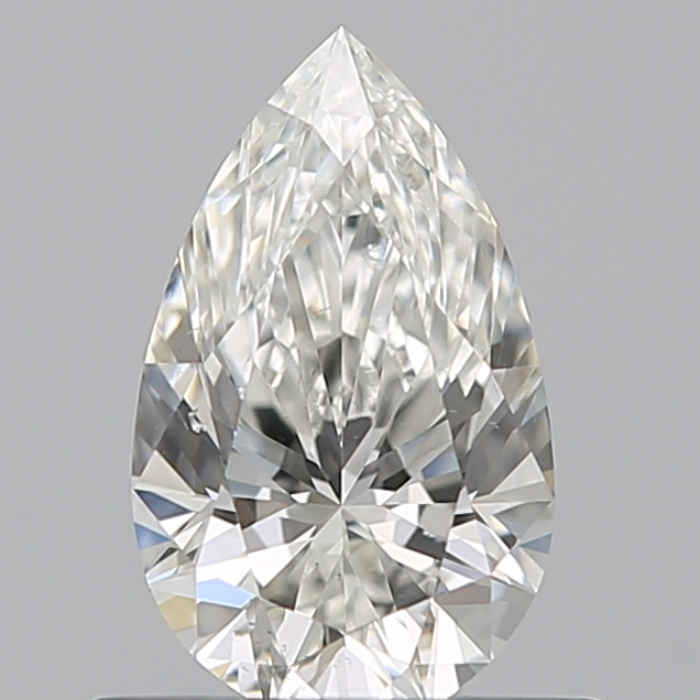 0.51 Carat Pear Loose Diamond, H, VS2, Ideal, GIA Certified