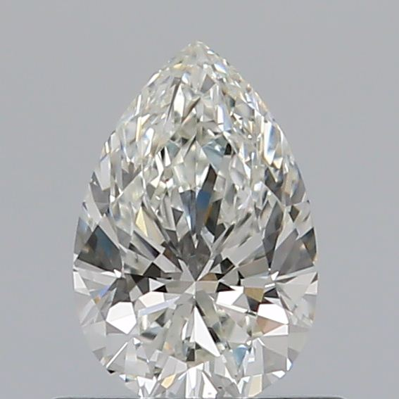 0.50 Carat Pear Loose Diamond, I, VS2, Excellent, GIA Certified