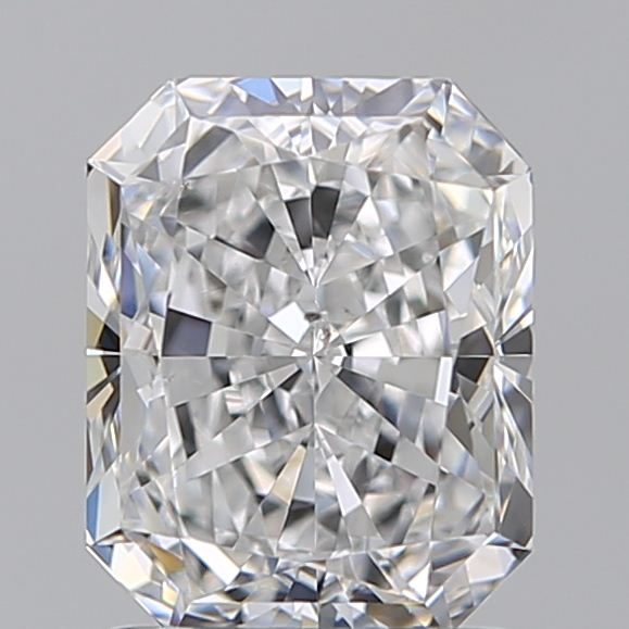 1.55 Carat Radiant Loose Diamond, D, SI2, Super Ideal, GIA Certified