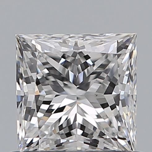 0.70 Carat Princess Loose Diamond, D, VS2, Super Ideal, GIA Certified