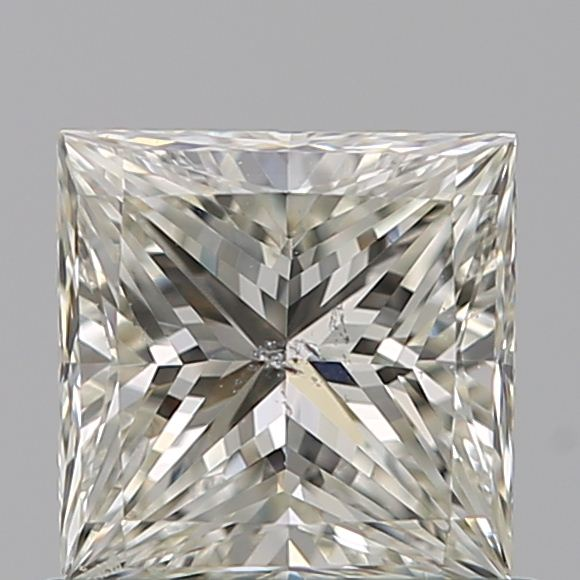 0.70 Carat Princess Loose Diamond, J, SI2, Ideal, GIA Certified | Thumbnail