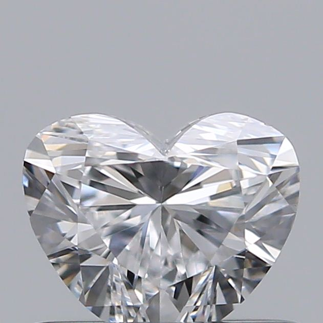0.50 Carat Heart Loose Diamond, D, VVS2, Ideal, GIA Certified