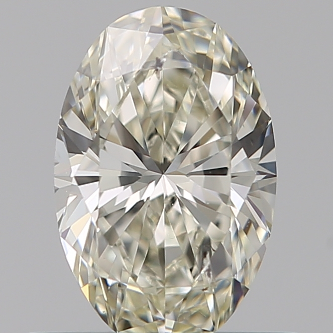 0.50 Carat Oval Loose Diamond, J, SI2, Super Ideal, GIA Certified