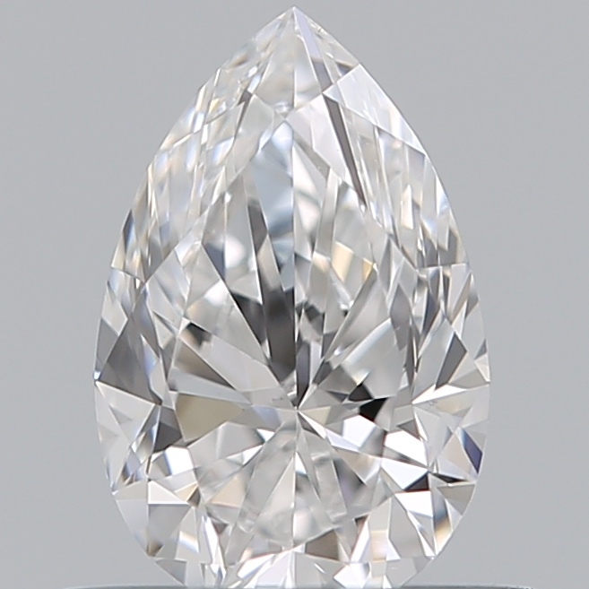 0.50 Carat Pear Loose Diamond, D, VVS2, Ideal, GIA Certified