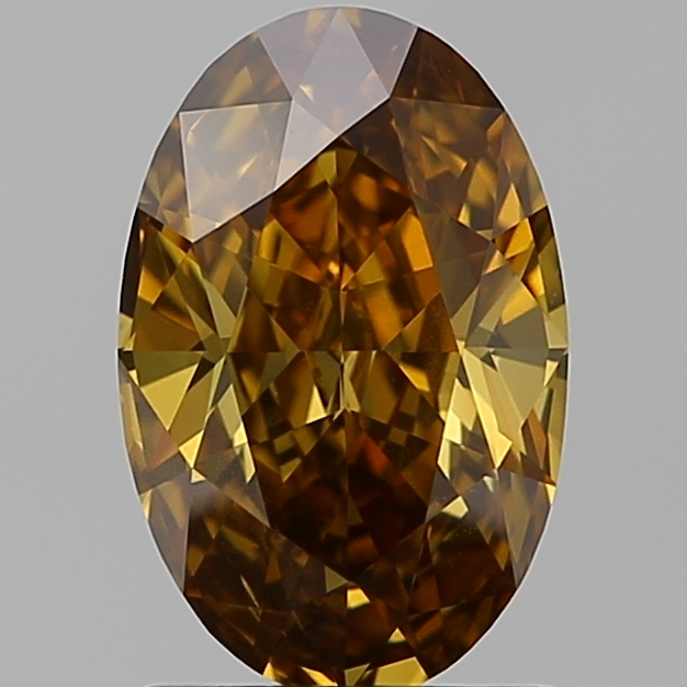 1.40 Carat Oval Loose Diamond, FANCY, SI2, Excellent, GIA Certified