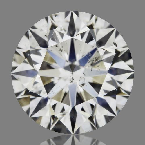 2.52 Carat Round Loose Diamond, E, SI2, Super Ideal, GIA Certified