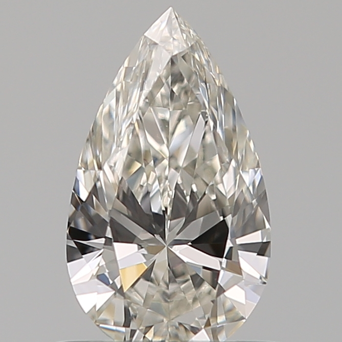 0.55 Carat Pear Loose Diamond, H, VS1, Ideal, GIA Certified
