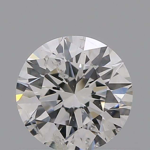 0.50 Carat Round Loose Diamond, F, I1, Ideal, GIA Certified
