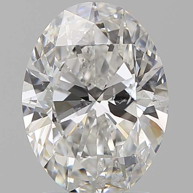 2.01 Carat Oval Loose Diamond, F, SI2, Super Ideal, GIA Certified