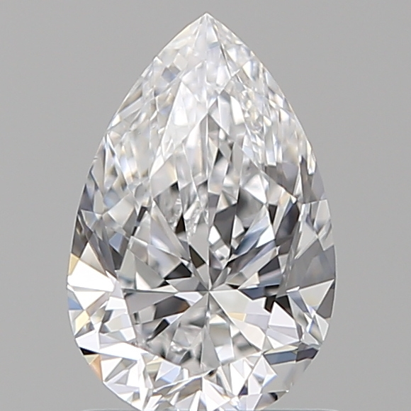 1.00 Carat Pear Loose Diamond, D, VS2, Ideal, GIA Certified