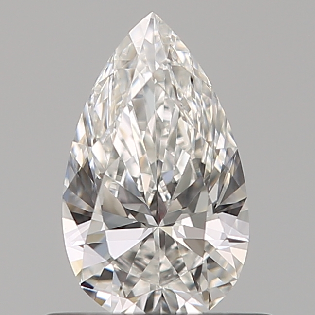 0.51 Carat Pear Loose Diamond, F, VVS1, Super Ideal, GIA Certified