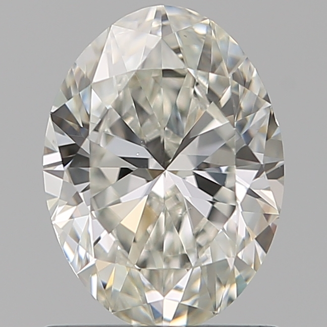0.96 Carat Oval Loose Diamond, H, VS1, Ideal, GIA Certified | Thumbnail