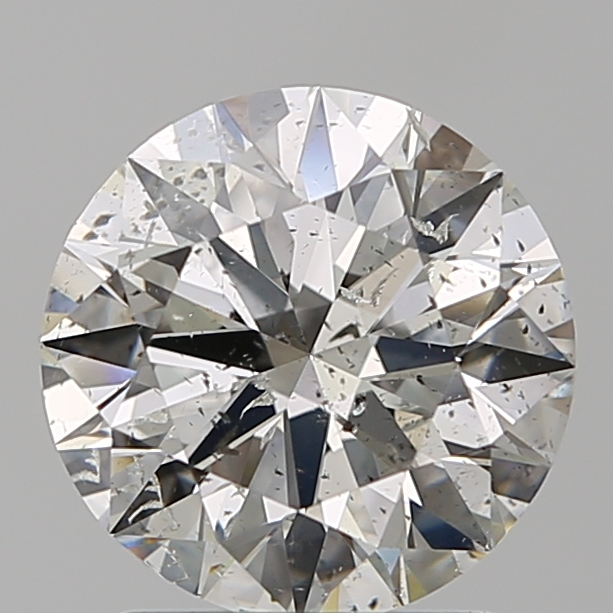 1.51 Carat Round Loose Diamond, H, SI2, Super Ideal, GIA Certified