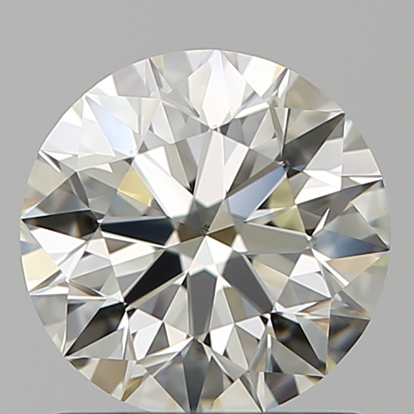 1.08 Carat Round Loose Diamond, K, VS1, Super Ideal, GIA Certified
