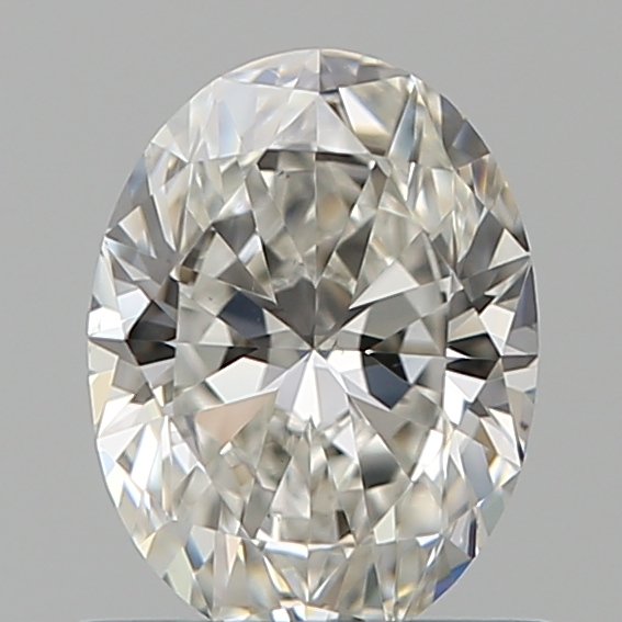 0.70 Carat Oval Loose Diamond, H, VS2, Super Ideal, GIA Certified