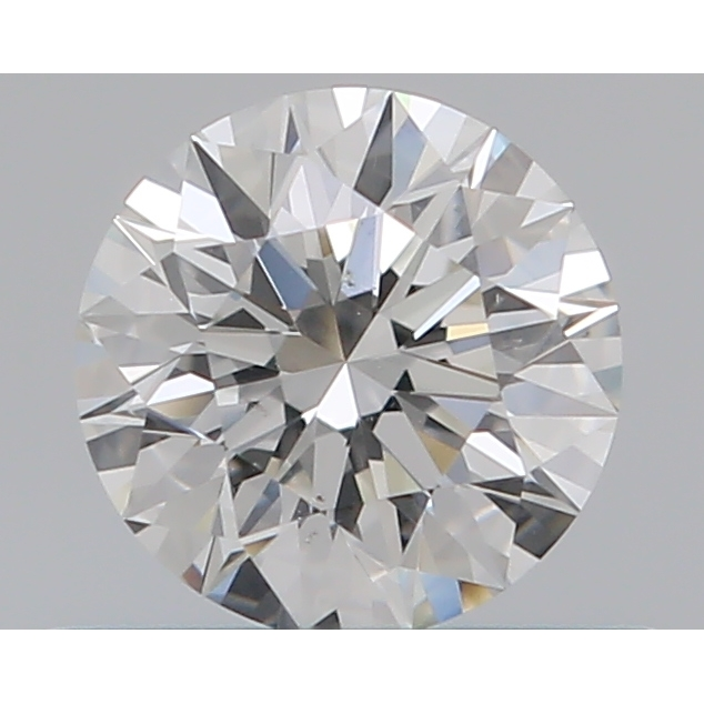 0.42 Carat Round Loose Diamond, G, SI1, Super Ideal, GIA Certified