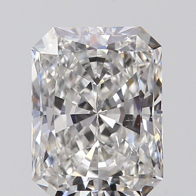 0.50 Carat Radiant Loose Diamond, F, SI1, Super Ideal, GIA Certified