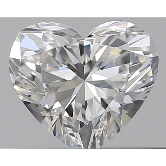 0.31 Carat Heart Loose Diamond, F, VVS1, Super Ideal, GIA Certified